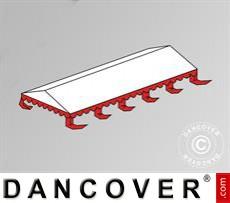 Dachplane für das Partyzelt Exclusive 6x10m PVC, Weiß / Rot