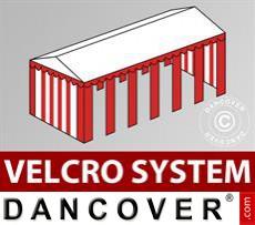 Dachplane mit Klettverschluss für Exclusive-Partyzelt 6x12m, Weiß / Rot