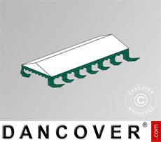 Dachplane für das Partyzelt Exclusive 6x12m PVC, Weiß / Grün