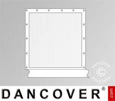 Seitenwand mit Panoramafenster für Partyzelt Exclusive, Weiß