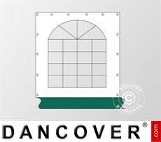 Seitenwand mit Fenster für Partyzelt Exclusive, Weiß / Grün