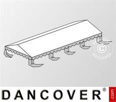Dachplane für das Partyzelt Original 6x8m PVC, Weiß / Grau