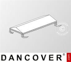 Dachplane für das Partyzelt Plus 4x8m PE, Weiß / Grau