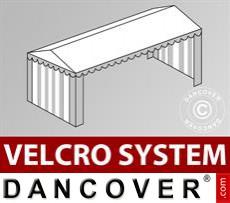 Dachplane mit Klettverschluss für Plus-Partyzelt 5x10m, Weiß / Grau