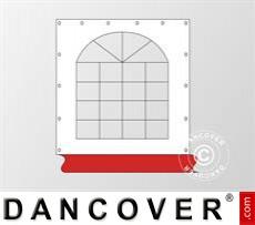Seitenwand mit Fenster für Partyzelt Original, Weiß / Rot