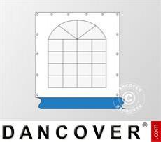 Seitenwand mit Fenster für Partyzelt Exclusive, Weiß / Blau