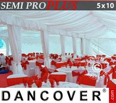 Innenausstattungspaket, Weiß, für 5x10m Festzelt SEMI PRO Plus