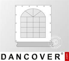 Seitenwand mit Fenster für Partyzelt SEMI PRO, Weiß / Grau