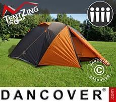 Campingzelt, TentZing® Xplorer, 4 Personen, Orange/Dunkelgrau