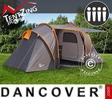 Campingzelt, TentZing® Xplorer für die Familie, 4 Personen, Orange/Dunkelgrau