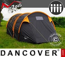 Campingzelt, TentZing® Tunnel, 4 Personen, orange/dunkelgrau