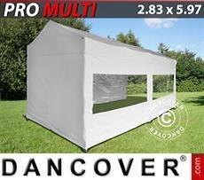 Faltzelt FleXtents Multi 2,83x5,87m Weiß, mit 6 Wänden