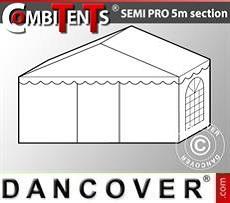2 m Endabschnitt-Erweiterung für Semi PRO CombiTents®, 5x2m, PVC, weiß