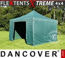 Faltzelt FleXtents Xtreme 4x4m Grün, inkl. 4 Wänden