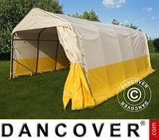 Lager- und Arbeitszelt PRO 3,6x6x2,7m, PVC, weiß/gelb, flammfest
