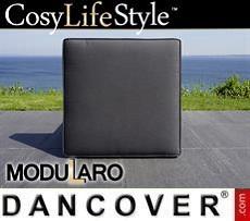 Kissenbezüge für quadratische Fußbank für Modularo, schwarz