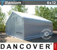 Lagerzelt Titanium 6x12x3,5x5,5m, Weiß / Grau