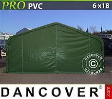 Lagerzelt PRO 6x18x3,7m PVC, Grün