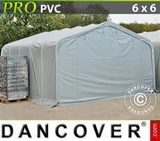 Lagerzelt PRO 6x6x3,7m PVC, Grau
