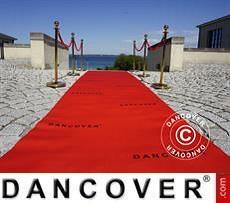 Roter Teppichläufer mit Aufdruck, 2,4x12m