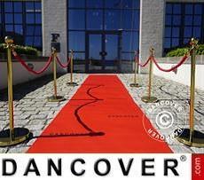 Roter Teppichläufer mit Aufdruck, 1,2x12m