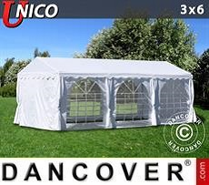 Partyzelt UNICO 3x6m, Weiß