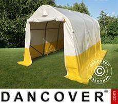 Lager- und Arbeitszelt PRO 2x3x2m, PVC, weiß/gelb, flammfest