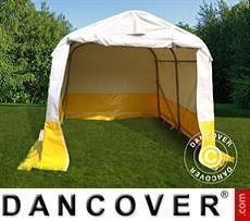 Lager- und Arbeitszelt PRO 2,4x2,4x2m, PVC, weiß/gelb, flammfest