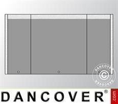 Giebelwand UNICO 6m mit schmaler Tür, Dunkelgrau