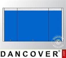 Giebelwand UNICO 3m mit schmaler Tür, Blau