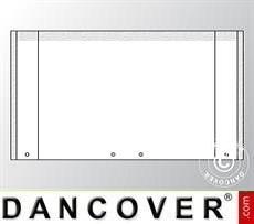Giebelwand UNICO 6m mit breiter Tür, Weiß