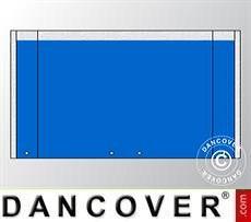 Giebelwand UNICO 4m mit breiter Tür, Blau