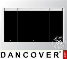 Giebelwand UNICO 4m mit schmaler Tür, Schwarz