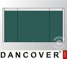 Giebelwand UNICO 4m mit schmaler Tür, Dunkelgrün