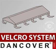 Dachplane für Partyzelt UNICO, PVC/Polyester, 4x8m, sandfarben