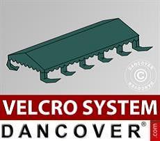 Dachplane für Partyzelt UNICO, PVC/Polyester, 5x10m, dunkelgrün