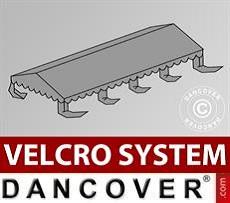 Dachplane für Partyzelt UNICO, PVC/Polyester, 5x8m, dunkelgrau