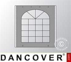 Seitenwand mit Fenster für Partyzelt UNICO, PVC/Polyester, 3m, dunkelgrau