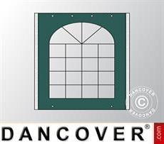 Seitenwand mit Fenster für Partyzelt UNICO, PVC/Polyester, 3m, dunkelgrün