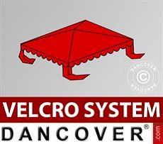 Dachplane für Partyzelt UNICO, PVC/Polyester, 3x3m, rot