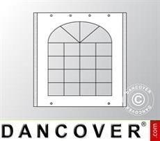 Seitenwand mit Fenster für Partyzelt UNICO, PVC/Polyester, 2m, weiß