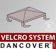 Dachplane für Partyzelt UNICO, PVC/Polyester, 3x3m, sandfarben