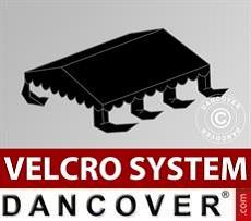 Dachplane für Partyzelt UNICO, PVC/Polyester, 4x6m, schwarz