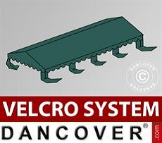 Dachplane für Partyzelt UNICO, PVC/Polyester, 4x8m, dunkelgrün