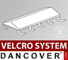 Dachplane für Partyzelt UNICO, PVC/Polyester, 4x8m, weiß