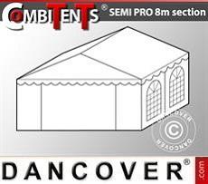 4m-Endabschnitt-Erweiterung für Semi PRO CombiTent, 8x4m, PVC, weiß