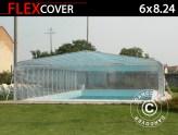 Cubierta de piscina tipo túnel