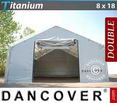 Carpa de almacén grande Titanium 8x18x3x5m