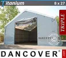 Carpa de almacén grande Titanium 8x27x3x5m