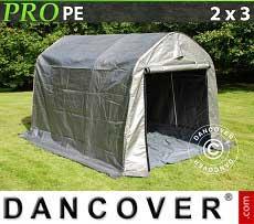 Carpa de almacenamiento PRO 2x3x2m PE, con cubierta de terreno